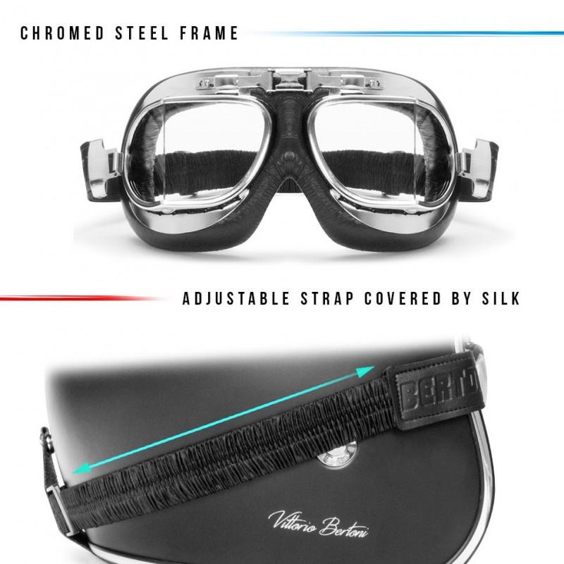 motorradbrille schutzbrille fliegerbrille af193cr bertoni. Black Bedroom Furniture Sets. Home Design Ideas