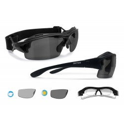 Photochromic Polarized Motorcycle Sunglasses for Prescription Lenses P399FTA Matt Black