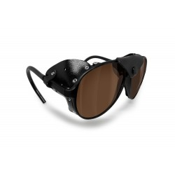 BERTONI Polarized Sunglasses Goggles for Motorcycle mod ALPS 01 Italy | Polarized Brown Lenses
