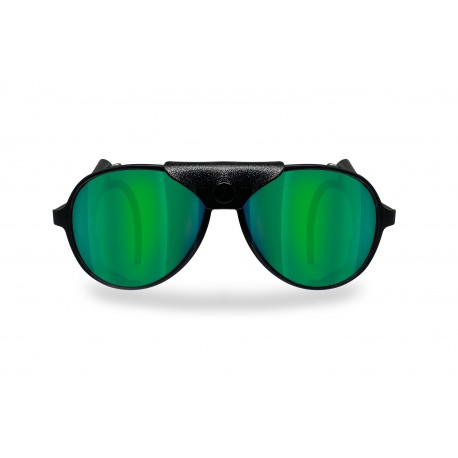 BERTONI Polarized Sunglasses Goggles for Motorcycle mod ALPS 04 Italy | Polarized Green Mirror Lenses