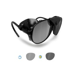 BERTONI Polarized Sunglasses Goggles for Motorcycle mod ALPS PFT Italy |Photochromic Polarized Smoke Lenses