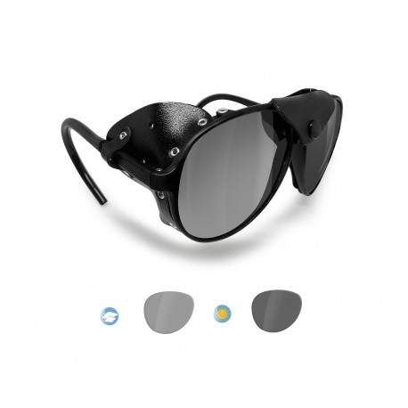 BERTONI Polarized Sunglasses Goggles for Motorcycle mod ALPS PFT Italy |Photochromic Polarized Smoke Lenses