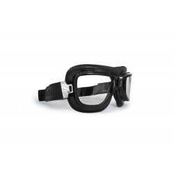 Gafas para Moto Vintage - perfil d'Acero negro - lentes Antihumo y Antichoque by Bertoni Italy - AF194A mascara negra