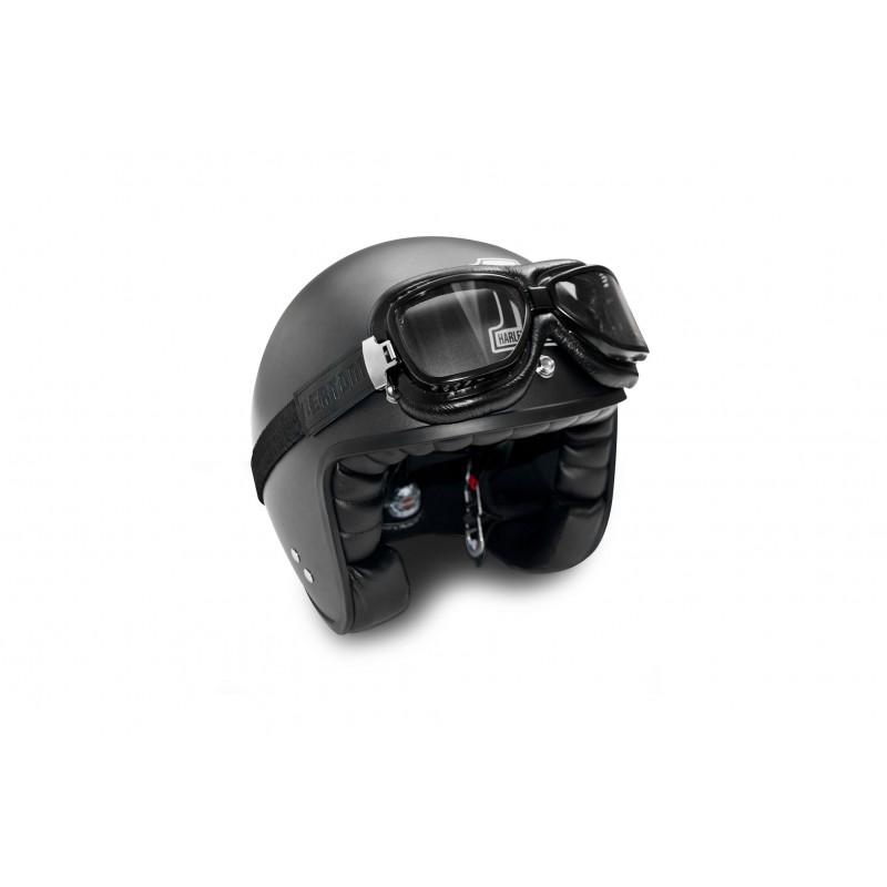 Black Steel Profile Bertoni Motorcycle Vintage Goggles that Fits over Glasses AF194A Antifog and Anticrash Lenses Italy