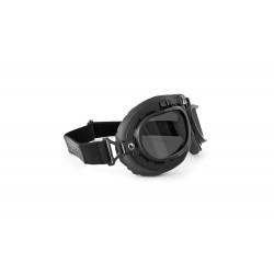 Gafas de Moto Mascara Vintage style lente gris by Bertoni Italy - AF195C negra