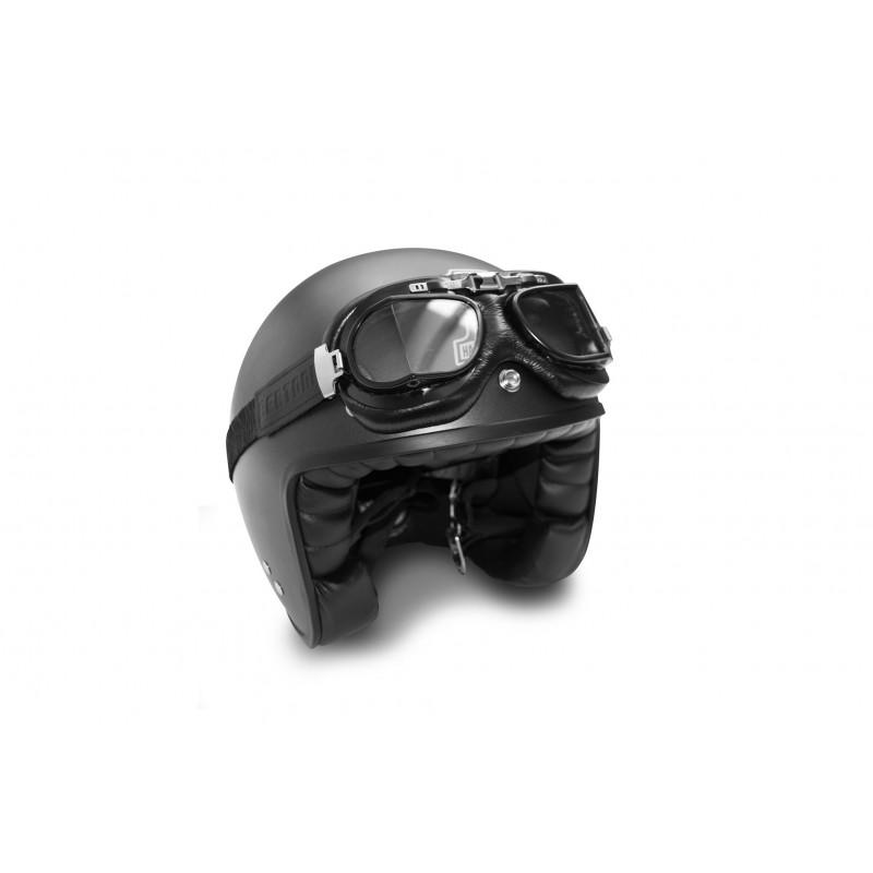 motorradbrille fliegerbrille schwarz kalbsleder betoni af194a. Black Bedroom Furniture Sets. Home Design Ideas