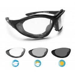 Photochrome Motorradbrille mit Kopfband F333 Bertoni