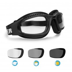 F113 Photochromic Motorcycle Goggles