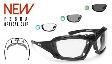 F366A Occhiali moto fotocromatici